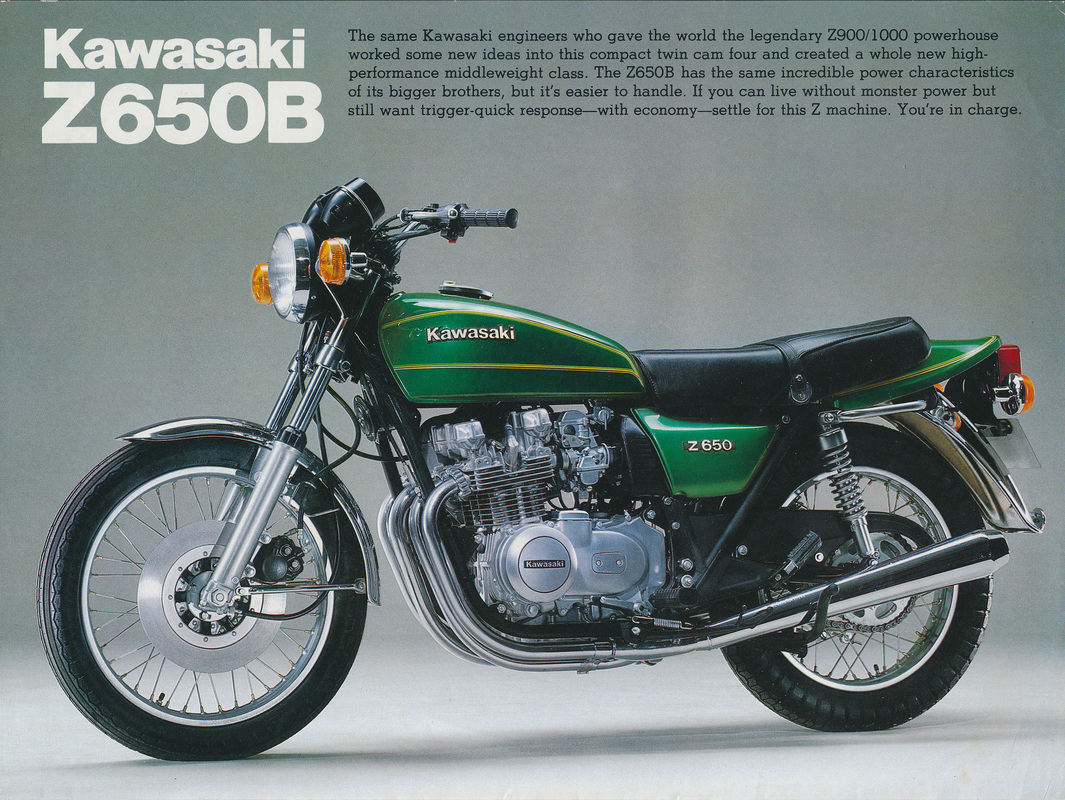 Kawasaki Z650B UK Model Sales Brochure