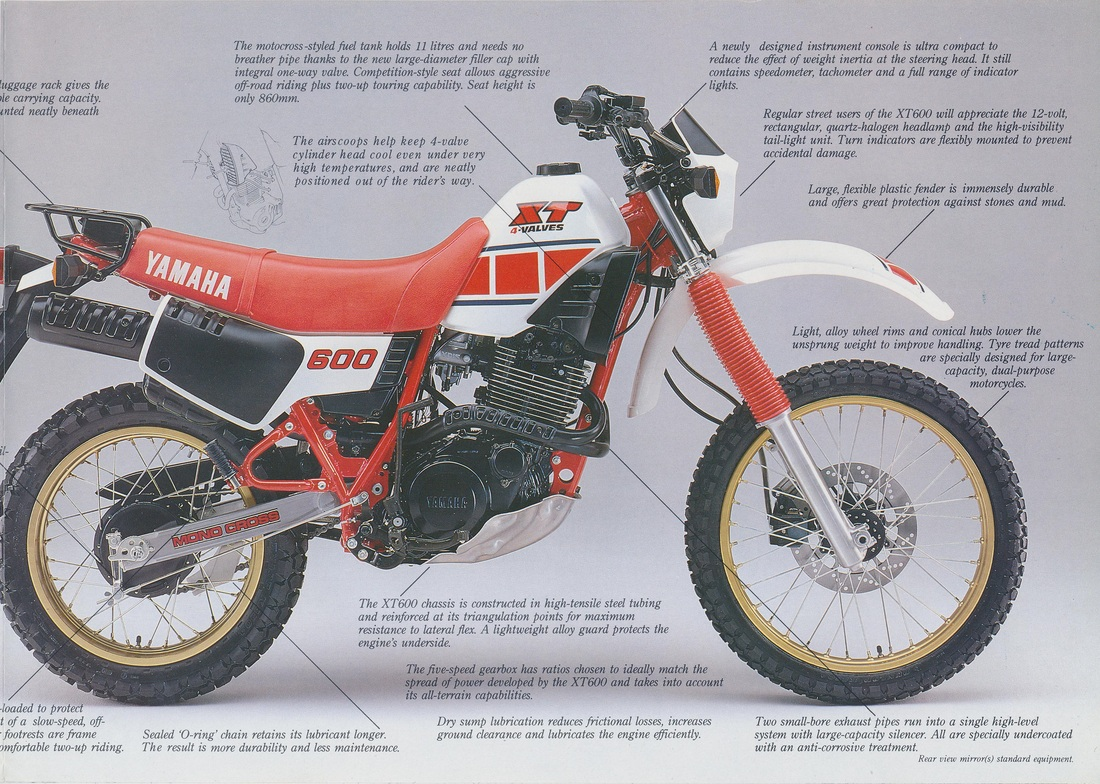 Yamaha Xt 600 K Motos Dirt Bikes T 1984 Wiring Diagram