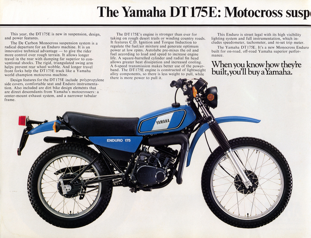 1978 DT175E. Australia Model Sales Brochure. Thanks to Tony Marshall for  supplying the brochure scans.