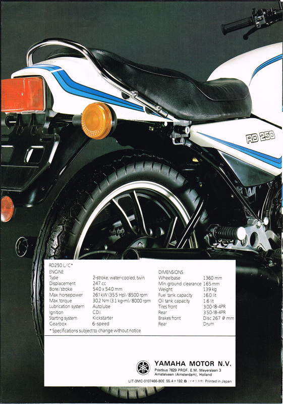 RD250LC RD350LC  - Dave's Bike Brochures